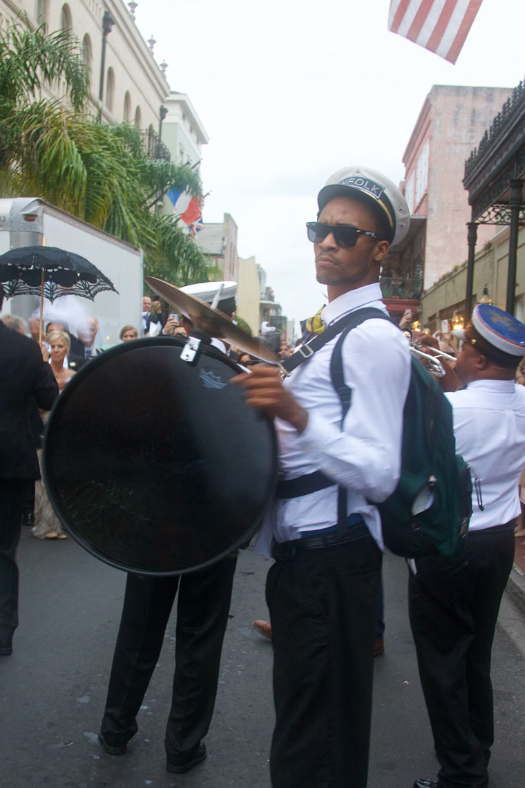 Second line drummer