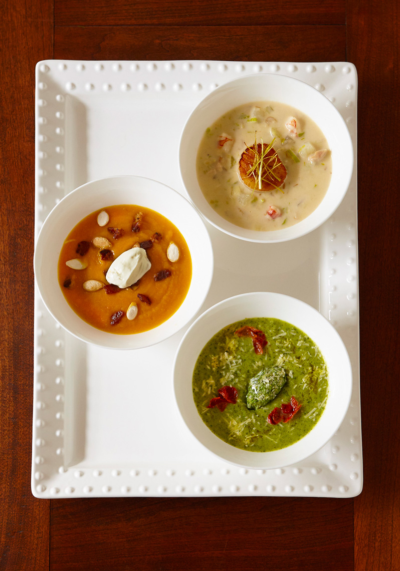 Trio of Fall soups